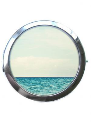 Зеркальце Tina Bolotina. Цвет: морская волна, светло-голубой