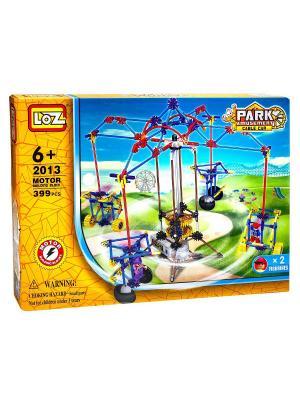 Электромеханический конструктор LOZ PARK. Серия: Парк развлечений. Качели для двоих. Цвет: синий