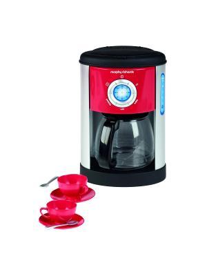 Кофеварка Morphy Richards (чашки,ложки в комплекте) Casdon. Цвет: розовый