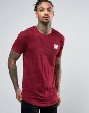 Good For Nothing Бордовая футболка из искусственной замши. Цвет: красный
