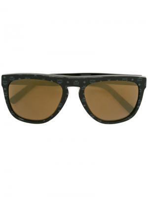 Солнцезащитные очки Rectangular Visetos MCM. Цвет: чёрный