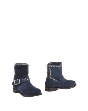Полусапоги и высокие ботинки MR. WOLF. Цвет: грифельно-синий