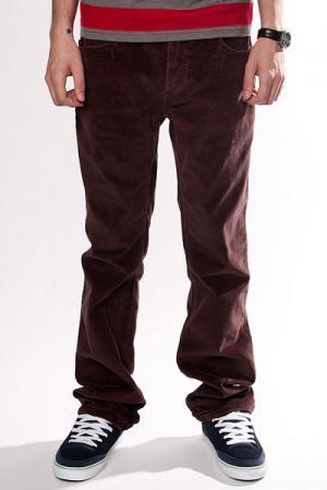 Джинсы прямые мужские классические  Thomas Signature Cords Dk.Brown Fallen. Цвет: коричневый