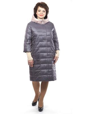 Утепленное пальто Lanicka. Цвет: серо-коричневый