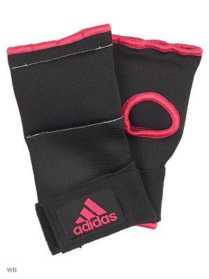 Внутренние перчатки Super Inner Gloves Gel Knuckle Adidas. Цвет: черный, розовый
