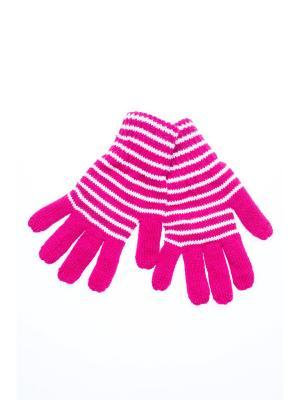 Перчатки FOMAS. Цвет: фуксия, белый