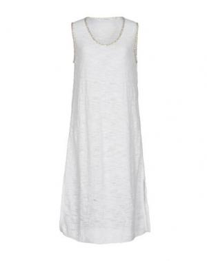 Платье до колена AMINA RUBINACCI. Цвет: белый