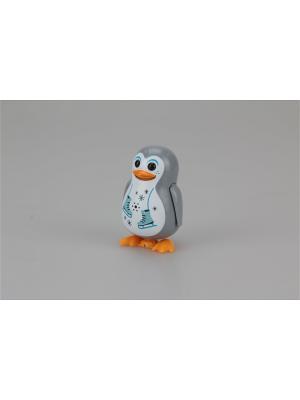 Пингвин с кольцом, серый, фигурист Silverlit. Цвет: серый