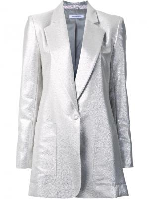 Пиджак с отделкой металлик и застежкой на пуговицу Bianca Spender. Цвет: металлический