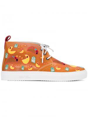 Ботинки на шнуровке Del Toro Shoes. Цвет: жёлтый и оранжевый