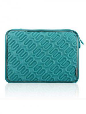 Чехол для MacBook 15.4, Лого (цвет - зеленый) Kawaii Factory. Цвет: бирюзовый
