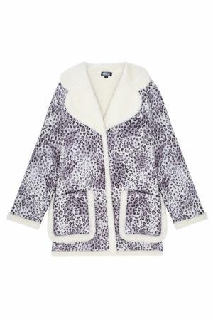 Пальто с принтом ARnouveau. Цвет: серый