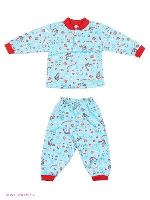 Пижама Babycollection. Цвет: светло-голубой, красный