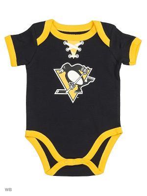 Боди NHL Penguins Atributika & Club. Цвет: черный, желтый