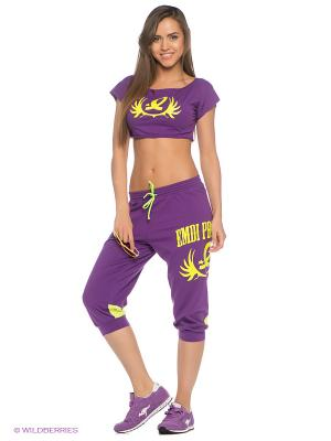 Капри EMDI. Цвет: фиолетовый, желтый