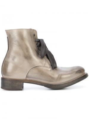 Ботинки на шнуровке Cherevichkiotvichki. Цвет: серый