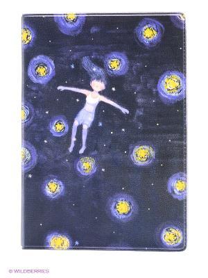 Обложка для автодокументов Девочка ночью Mitya Veselkov. Цвет: черный, фиолетовый
