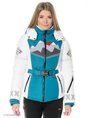 Куртка Sport Vision. Цвет: бирюзовый, белый