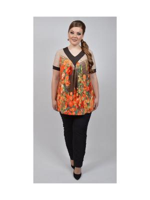 Кофточка Avrora. Цвет: коричневый, оранжевый