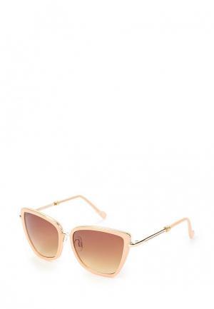 Очки солнцезащитные Fabretti. Цвет: бежевый
