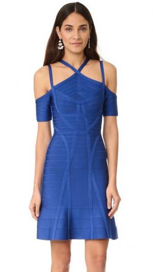 Платье Chantelle Herve Leger. Цвет: кобальт