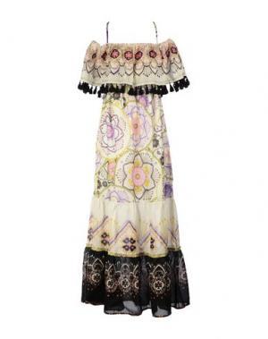 Длинное платье ANJUNA. Цвет: бежевый