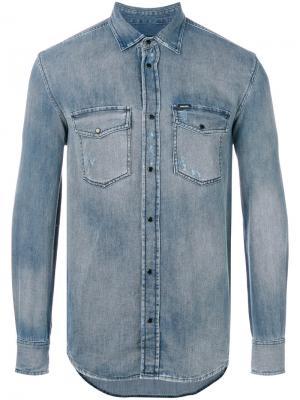 Джинсовая рубашка Diesel. Цвет: синий