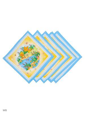 Набор платков носовых детских Римейн. Цвет: голубой, желтый