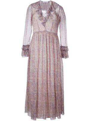 Расклешенное платье Philosophy Di Lorenzo Serafini. Цвет: многоцветный