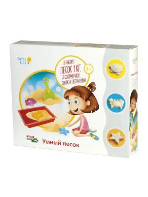 Набор Для Детского Творчества Умный Песок С Песочницей 1 GENIO KIDS. Цвет: бежевый