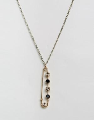 Krystal Ожерелье с кристаллом Swarovski. Цвет: золотой
