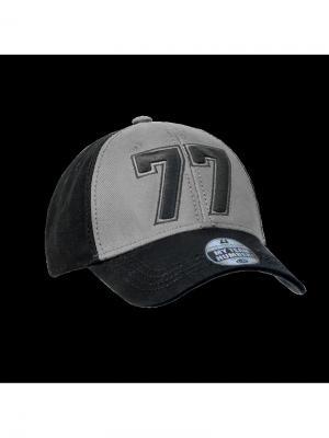 Бейсболка номерная Atributika & Club. Цвет: серый, черный