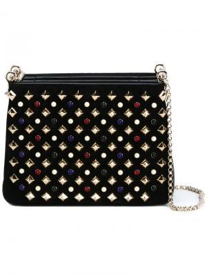 Embellished clutch Christian Louboutin. Цвет: чёрный