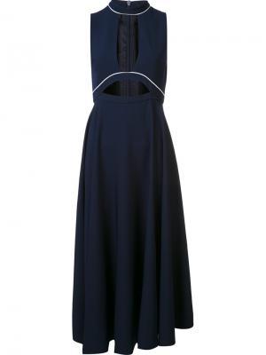 Платье Lauren Open Front Misha Nonoo. Цвет: синий