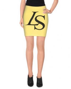 Мини-юбка LORELLA SIGNORINO. Цвет: желтый