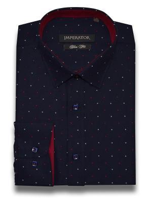 Рубашка Imperator. Цвет: темно-синий, темно-красный, терракотовый