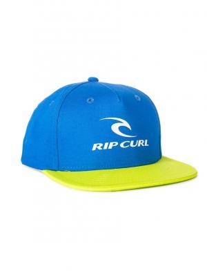 Кепка  CORPO MID PEAK CAP Rip Curl. Цвет: синий, лазурный, светло-желтый