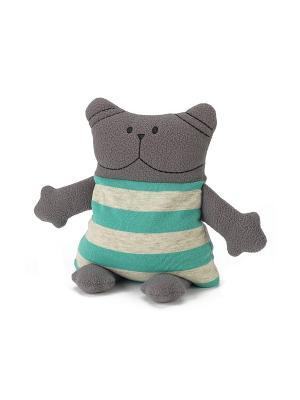Крафтовая грелка Кот Warmies. Цвет: серый
