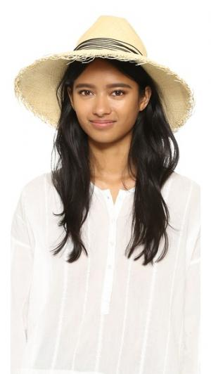 Широкополая шляпа Clasico с бахромой Artesano. Цвет: натуральный/черный
