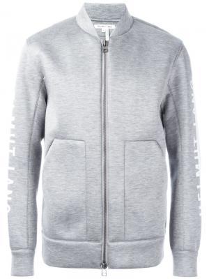 Куртка-бомбер с логотипом Helmut Lang. Цвет: серый