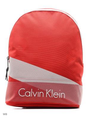 Рюкзак Calvin Klein. Цвет: оранжевый