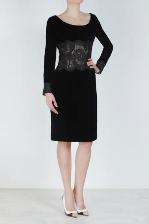 Бархатное платье (80-е) Emanuel Ungaro Vintage. Цвет: черный