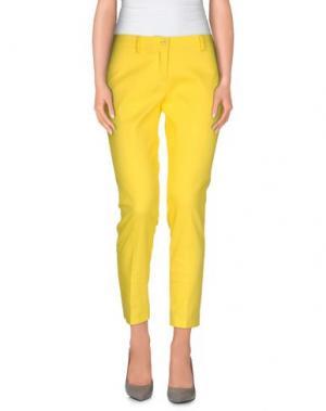 Повседневные брюки JO NO FUI. Цвет: желтый