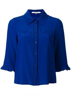 Рубашка с контрастной окантовкой LAutre Chose L'Autre. Цвет: синий