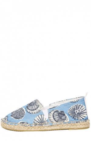 Эспадрильи Dolce & Gabbana. Цвет: голубой