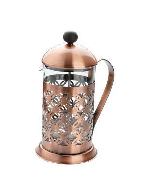 Заварочный чайник пресс-фильтр 0,8Л DEKOK. Цвет: коричневый