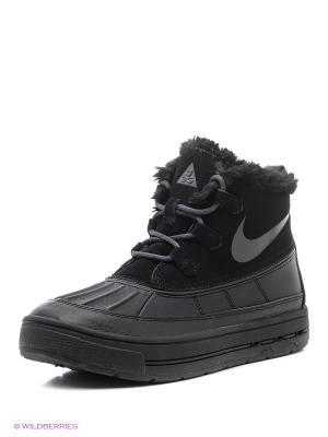Ботинки NIKE WOODSIDE CHUKKA 2 (GS). Цвет: черный, темно-серый