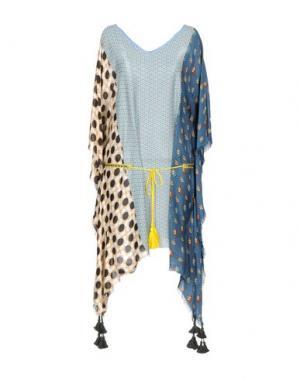 Короткое платье 100X200 CENTOXDUECENTO. Цвет: грифельно-синий
