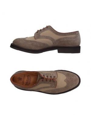 Обувь на шнурках TRICKER'S. Цвет: бежевый