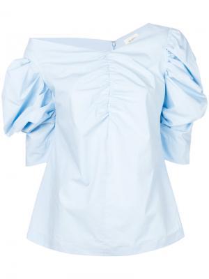 Блузка с рукавами-фонарик Isa Arfen. Цвет: синий